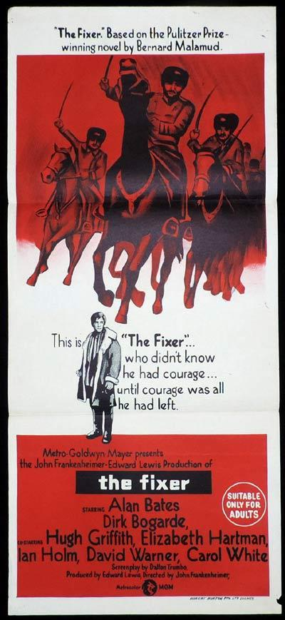 THE FIXER Original Daybill Movie Poster Perfect gift for Christopher Pyne