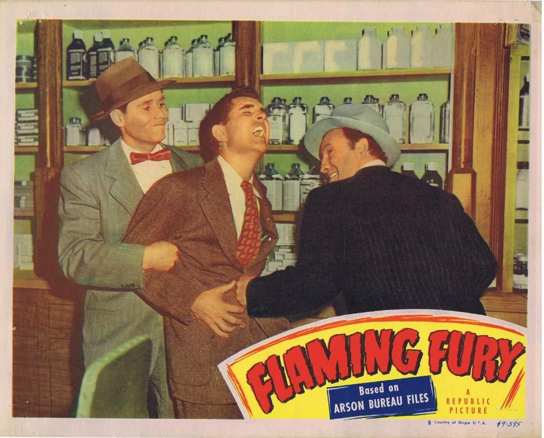 FLAMING FURY Lobby Card George Cooper Roy Roberts