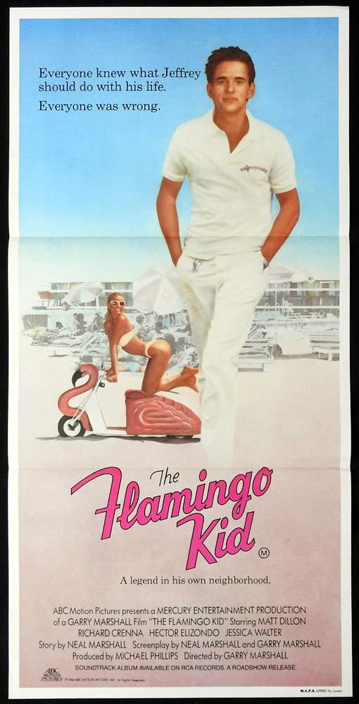 THE FLAMINGO KID Original Daybill Movie poster MATT DILLON Richard Crenna