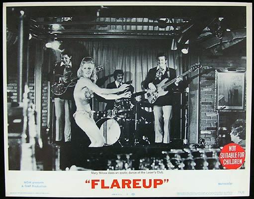FLAREUP 1970 Mary Wilcox Lobby Card Strips! 2