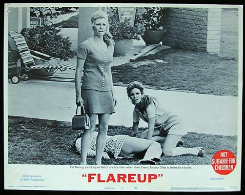FLAREUP 1970 Raquel Welch Pat Delaney Lobby Card 8
