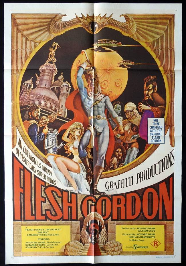 FLESH GORDON Original One sheet Movie poster Jason Williams Sexploitation