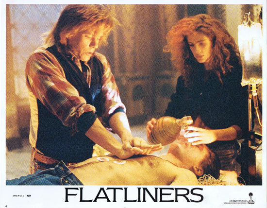 FLATLINERS Lobby Card 4 Julia Roberts Kevin Bacon