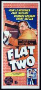 *FLAT TWO Original Daybill Movie Poster Edgar Wallace John LeMesurier