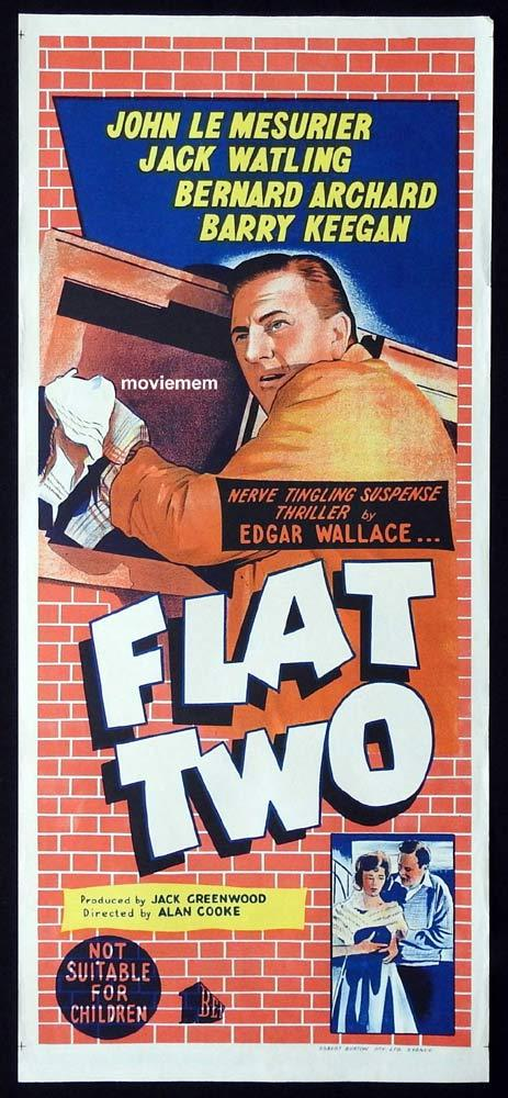 FLAT TWO Original Daybill Movie Poster Edgar Wallace John LeMesurier