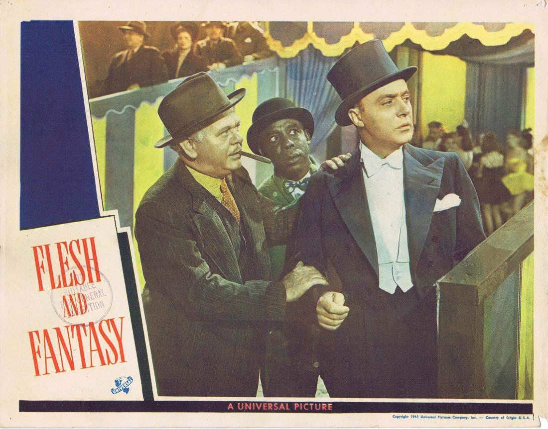 FLESH AND FANTASY Lobby Card 2 Edward G. Robinson Charles Boyer Robert Cummings Barbara Stanwyck