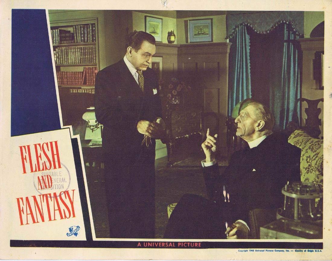 FLESH AND FANTASY Lobby Card 3 Edward G. Robinson Charles Boyer Robert Cummings Barbara Stanwyck