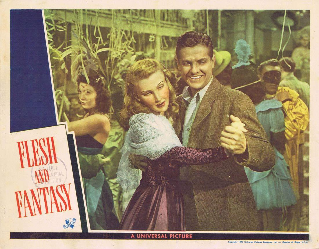 FLESH AND FANTASY Lobby Card 4 Edward G. Robinson Charles Boyer Robert Cummings Barbara Stanwyck