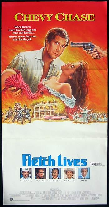 FLETCH LIVES daybill Movie poster Chevy Chase GWTW style