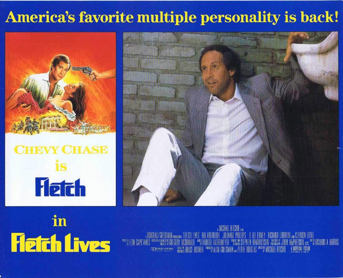 FLETCH LIVES Original English Lobby Card 1 Chevy Chase