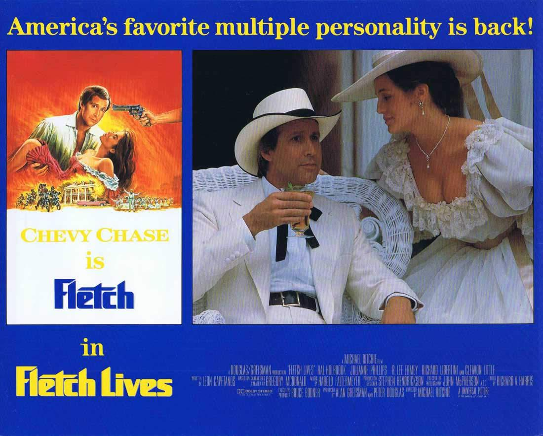 FLETCH LIVES Original English Lobby Card 3 Chevy Chase