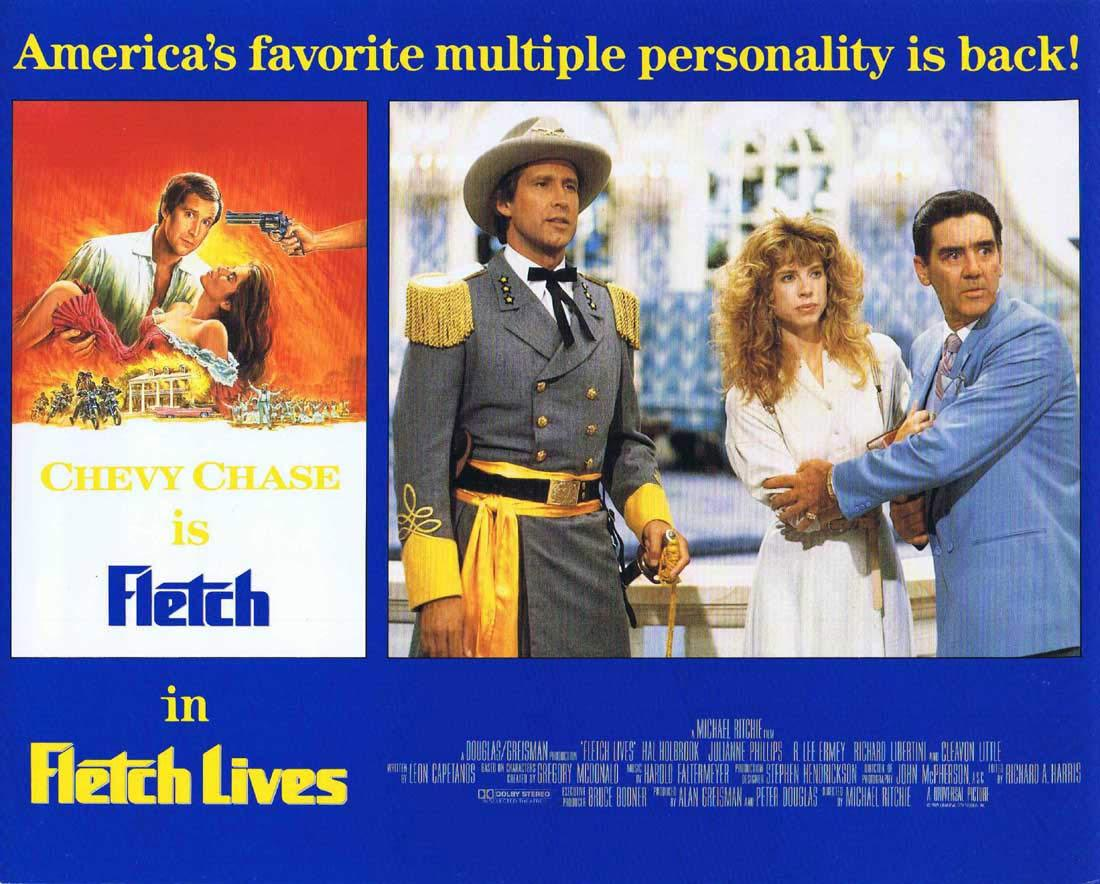 FLETCH LIVES Original English Lobby Card 4 Chevy Chase