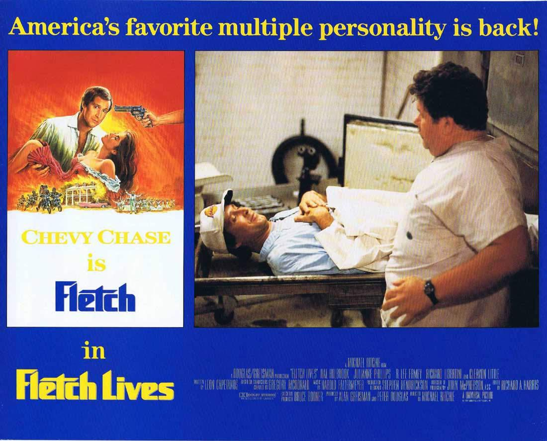 FLETCH LIVES Original English Lobby Card 5 Chevy Chase