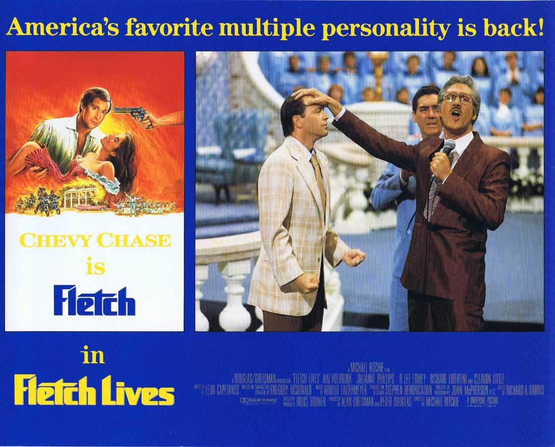 FLETCH LIVES Original English Lobby Card 6 Chevy Chase