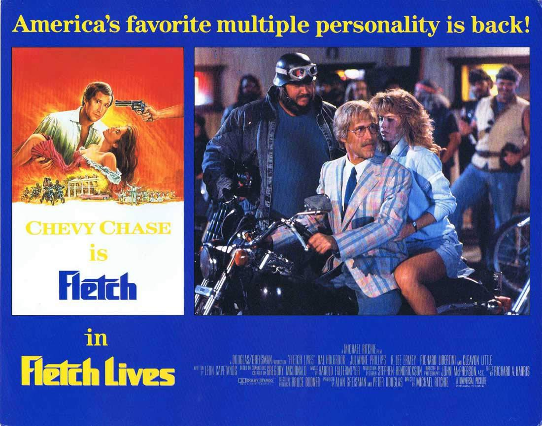 FLETCH LIVES Original English Lobby Card 8 Chevy Chase