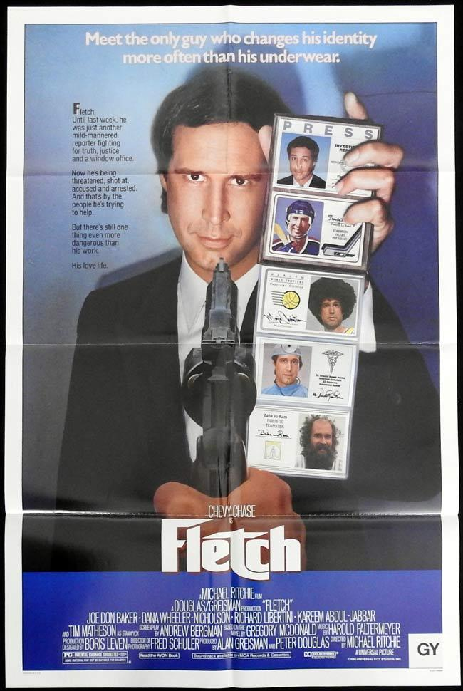 FLETCH Original One sheet Movie Poster Chevy Chase