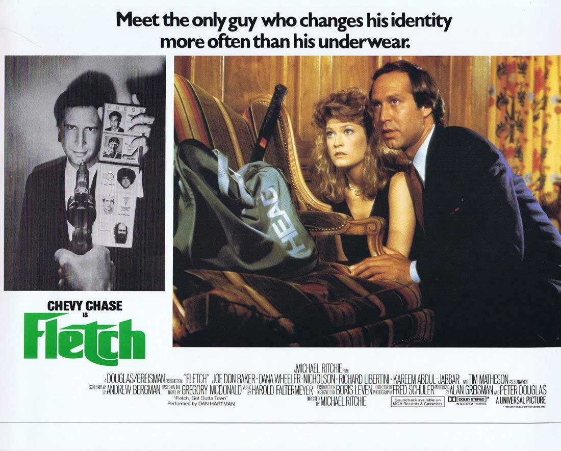 FLETCH Lobby card 1 Chevy Chase Joe Don Baker
