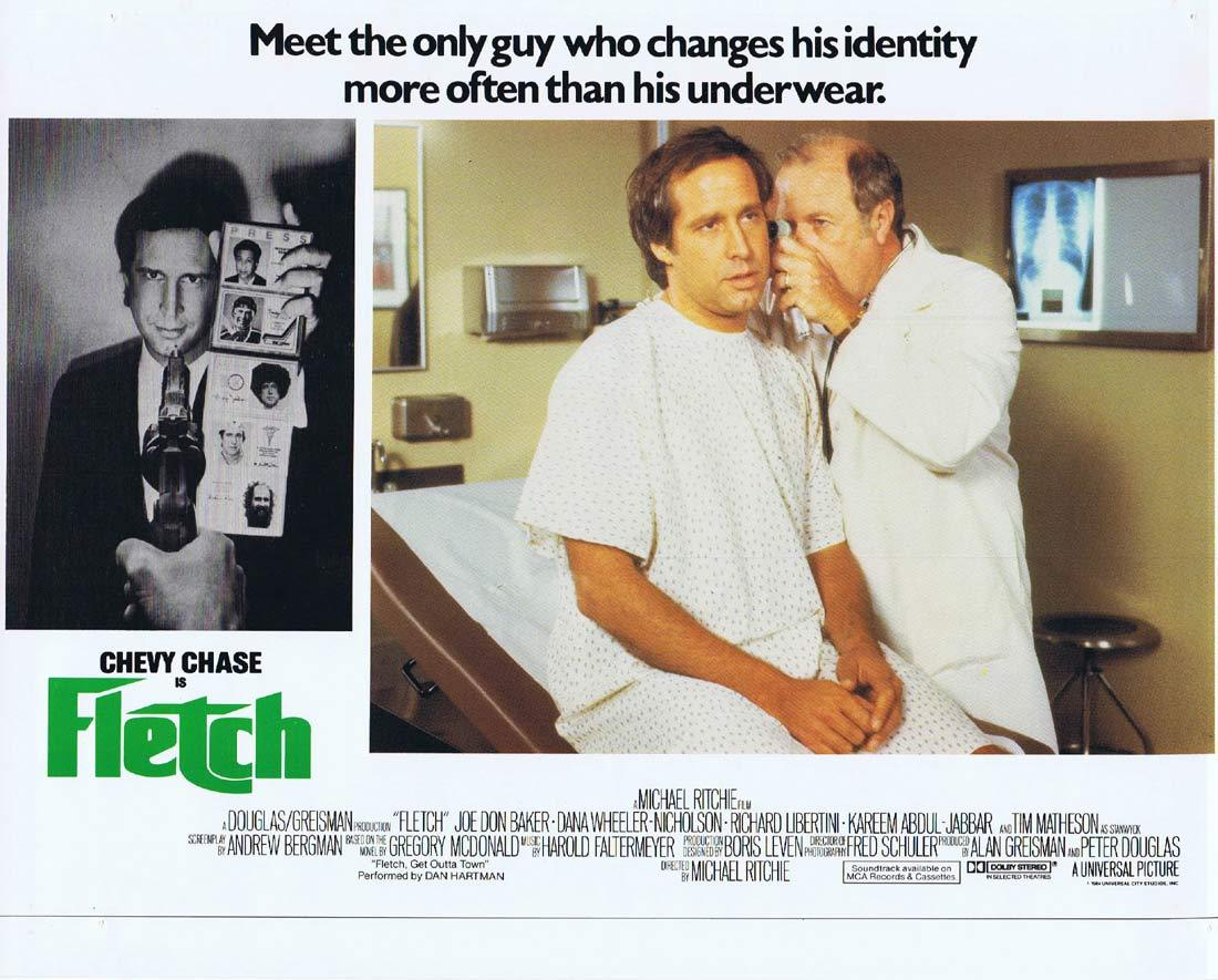 FLETCH Lobby card 2 Chevy Chase Joe Don Baker