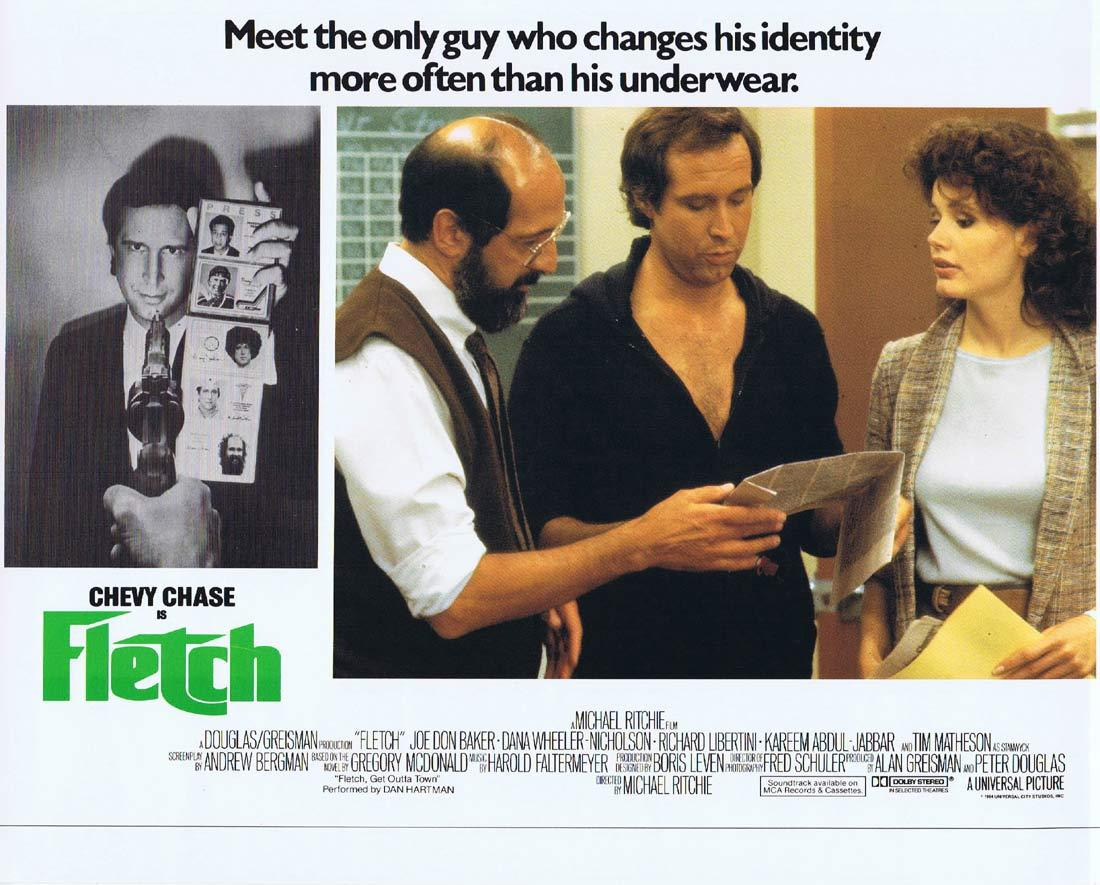 FLETCH Lobby card 3 Chevy Chase Joe Don Baker