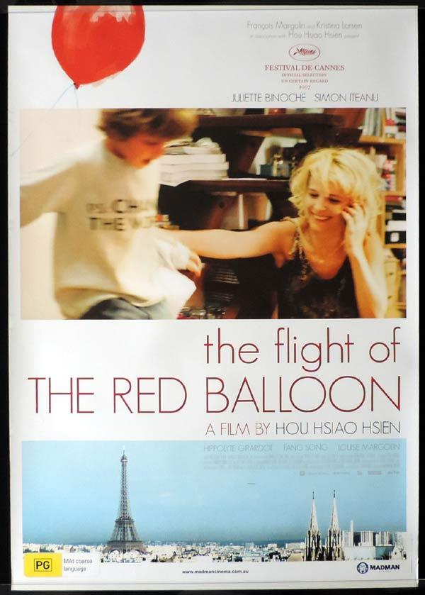 FLIGHT OF THE RED BALLOON One Sheet Movie Poster Juliette Binoche Cannes Film Festival