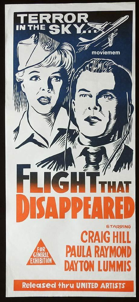 THE FLIGHT THAT DISAPPEARED Original Daybill Movie Poster Craig Hill Paula Raymond