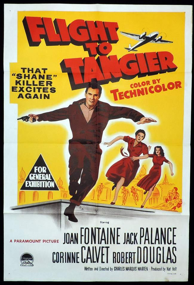 FLIGHT TO TANGIER Original One sheet Movie Poster JOAN FONTAINE Jack Palance