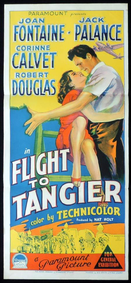 FLIGHT TO TANGIER Original Daybill Movie Poster Joan Fontaine Jack Palance