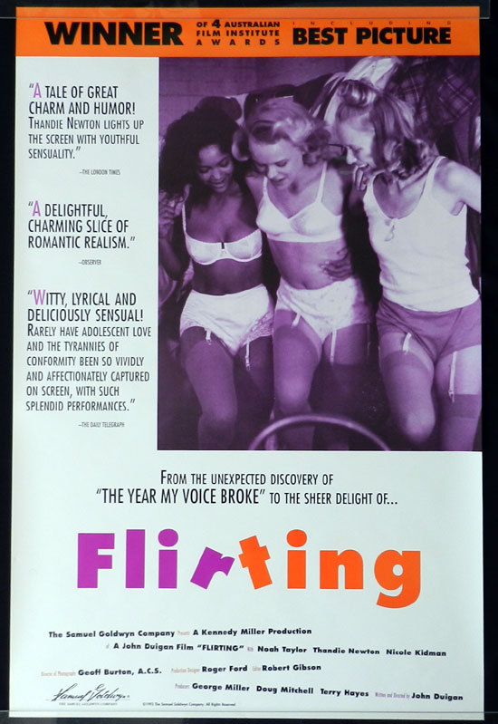 FLIRTING 1991 Nicole Kidman US ONE SHEET Movie poster
