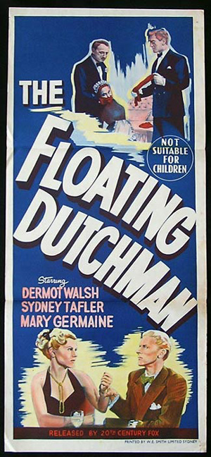 THE FLOATING DUTCHMAN Movie Poster 1952 Dermot Walsh Crime Daybill