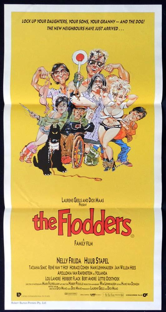 THE FLODDERS aka WELFARE PARTY Daybill Movie poster Dick Maas