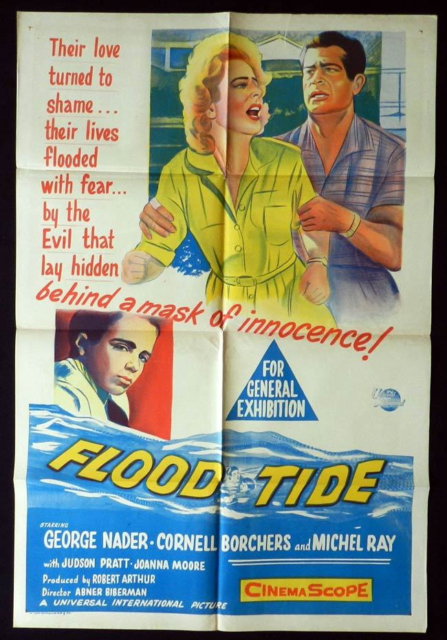 FLOOD TIDE One sheet Movie poster George Nader