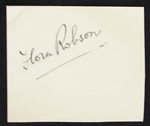 FLORA ROBSON – Autographed Album page