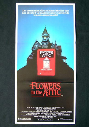 FLOWERS IN THE ATTIC-V.C. Andrews-original daybill post