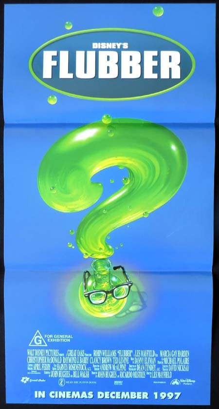 FLUBBER Original Daybill Movie poster Robin Williams
