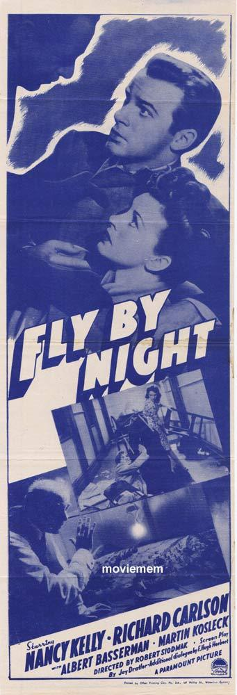 FLY BY NIGHT Daybill Movie Poster Robert Siodmak Film Noir