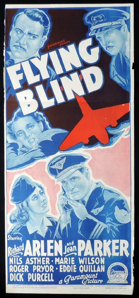 FLYING BLIND Original Daybill Movie Poster RICHARD ARLEN Richardson Studio