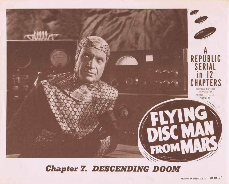FLYING DISC MAN FROM MARS Lobby card 4 MIND CONTROL MACHINE Serial