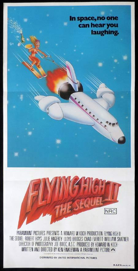 FLYING HIGH 2 AIRPLANE II Original Daybill Movie Poster Robert Hays