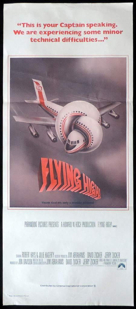 FLYING HIGH aka AIRPLANE Original Daybill Movie Poster Robert Hays