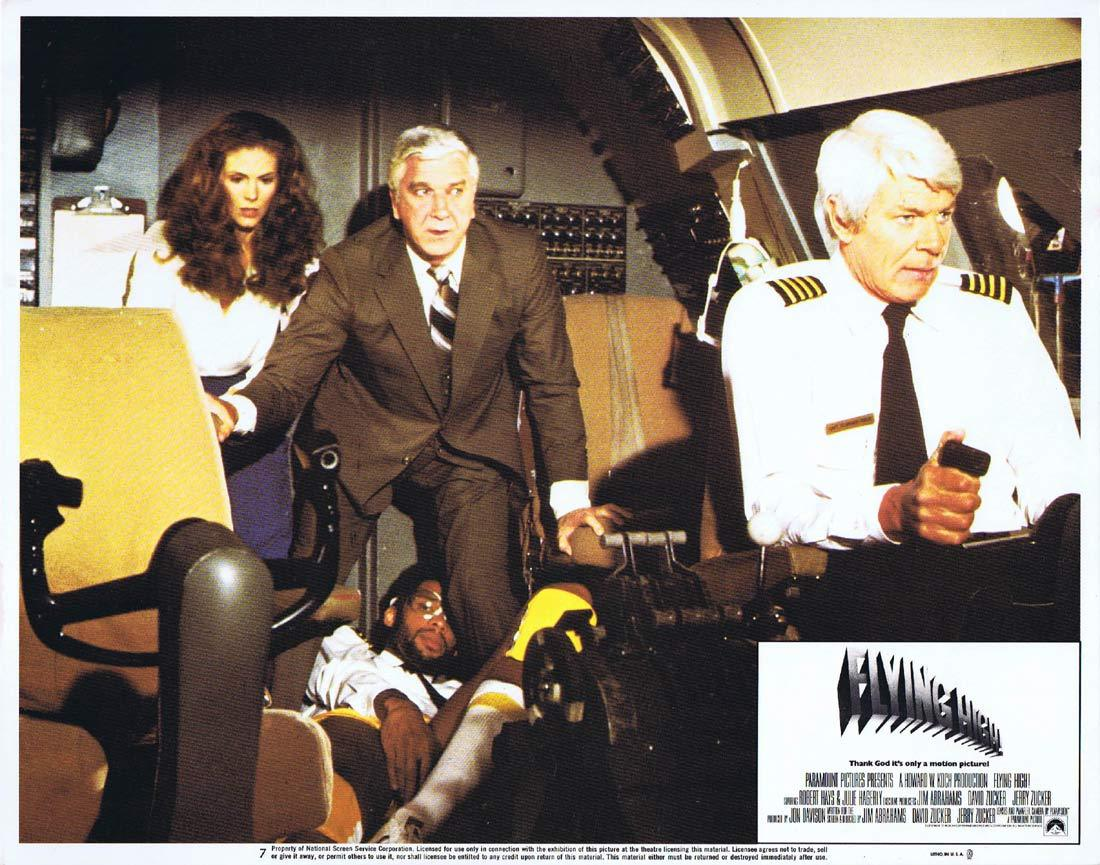 FLYING HIGH Original Lobby Card 7 Peter Graves Leslie Nielsen