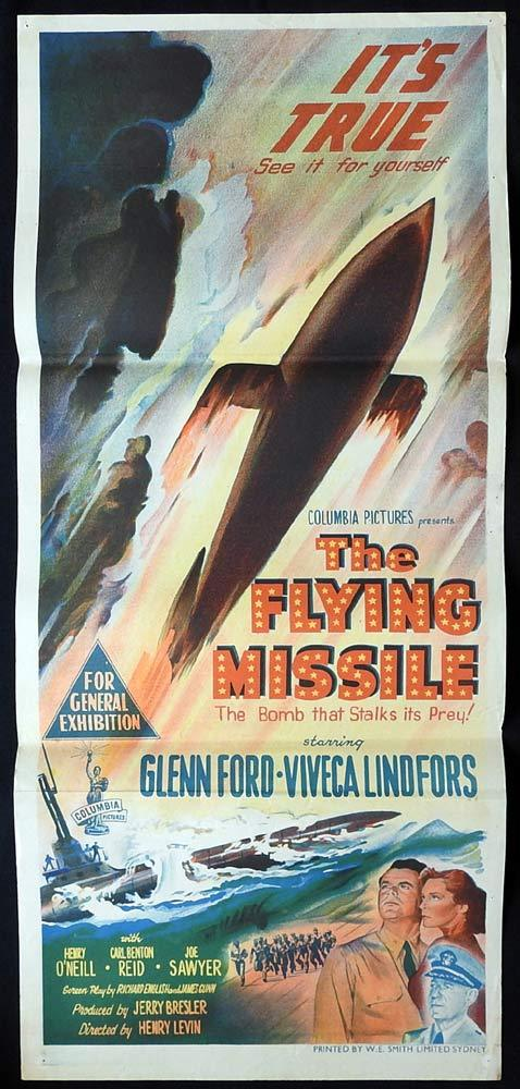 THE FLYING MISSILE Original Daybill Movie poster Glenn Ford Sci Fi