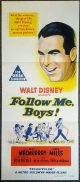 FOLLOW ME BOYS Original Daybill Movie Poster  Fred MacMurray Vera Miles Lillian Gish
