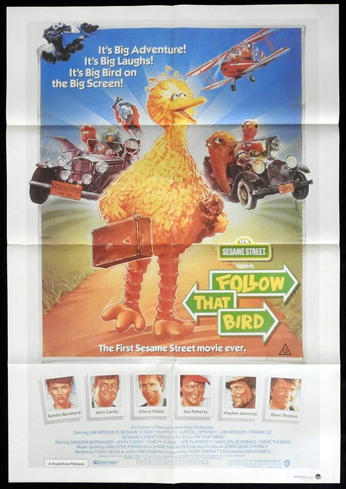 FOLLOW THAT BIRD Sesame Street Original One sheet Movie poster