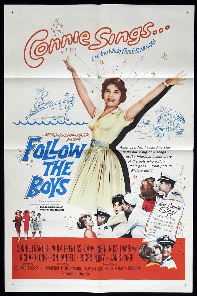 FOLLOW THE BOYS Original One sheet Movie poster Connie Francis Paula Prentiss