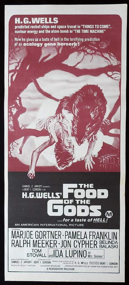 FOOD OF THE GODS Original Daybill Movie Poster Marjoe Gortner Pamela Franklin