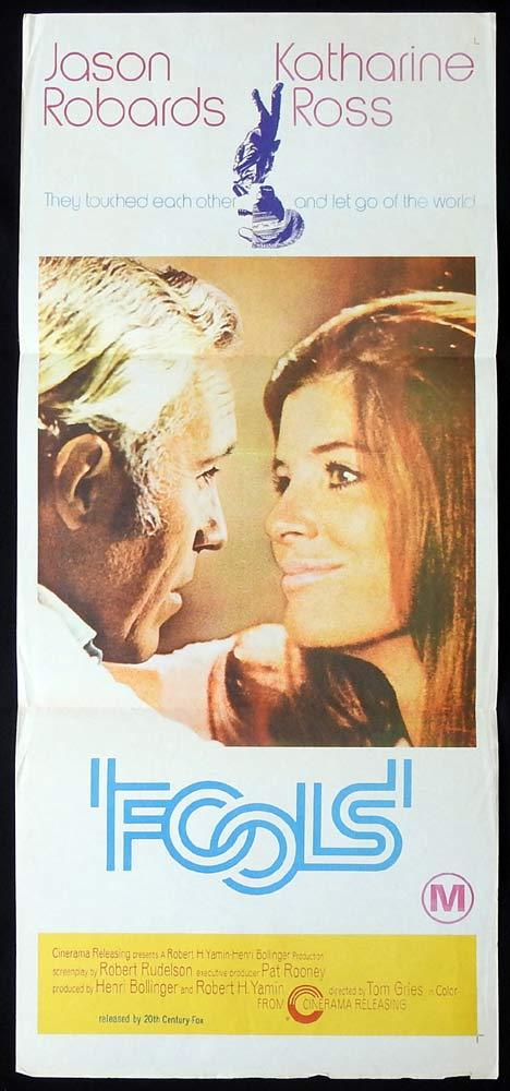 FOOLS Original Daybill Movie Poster Jason Robards Katharine Ross Scott Hylands