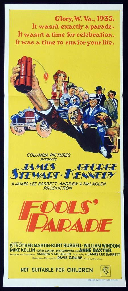 FOOLS PARADE Original Daybill Movie Poster James Stewart George Kennedy