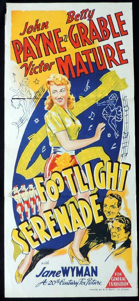 FOOTLIGHT SERENADE Original Daybill Movie Poster Betty Grable