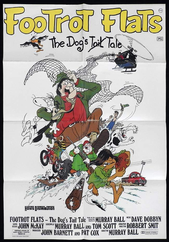 FOOTROT FLATS One sheet Movie poster New Zealand Film