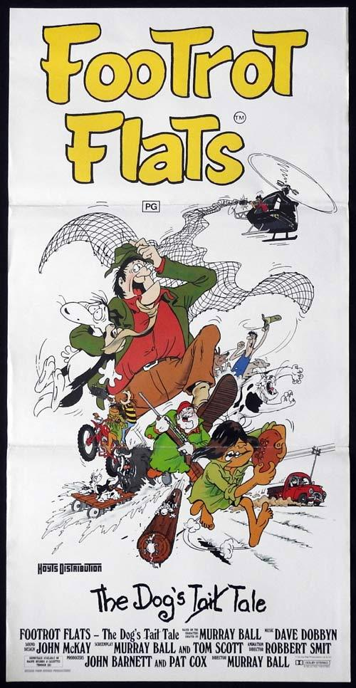 FOOTROT FLATS Daybill Movie Poster John Clarke Kiwiana New Zealand
